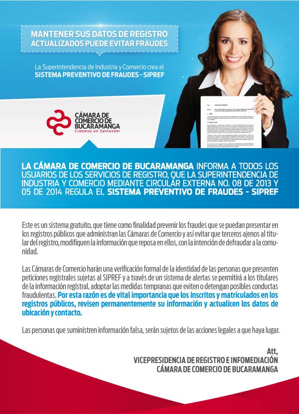 Servicios Registrales - Sistema Preventivo de Fraudes SIPREF