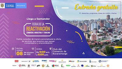 Llega a Santander la 'Feria de la Reactivación' del sector Comercio, Industria y Turismo