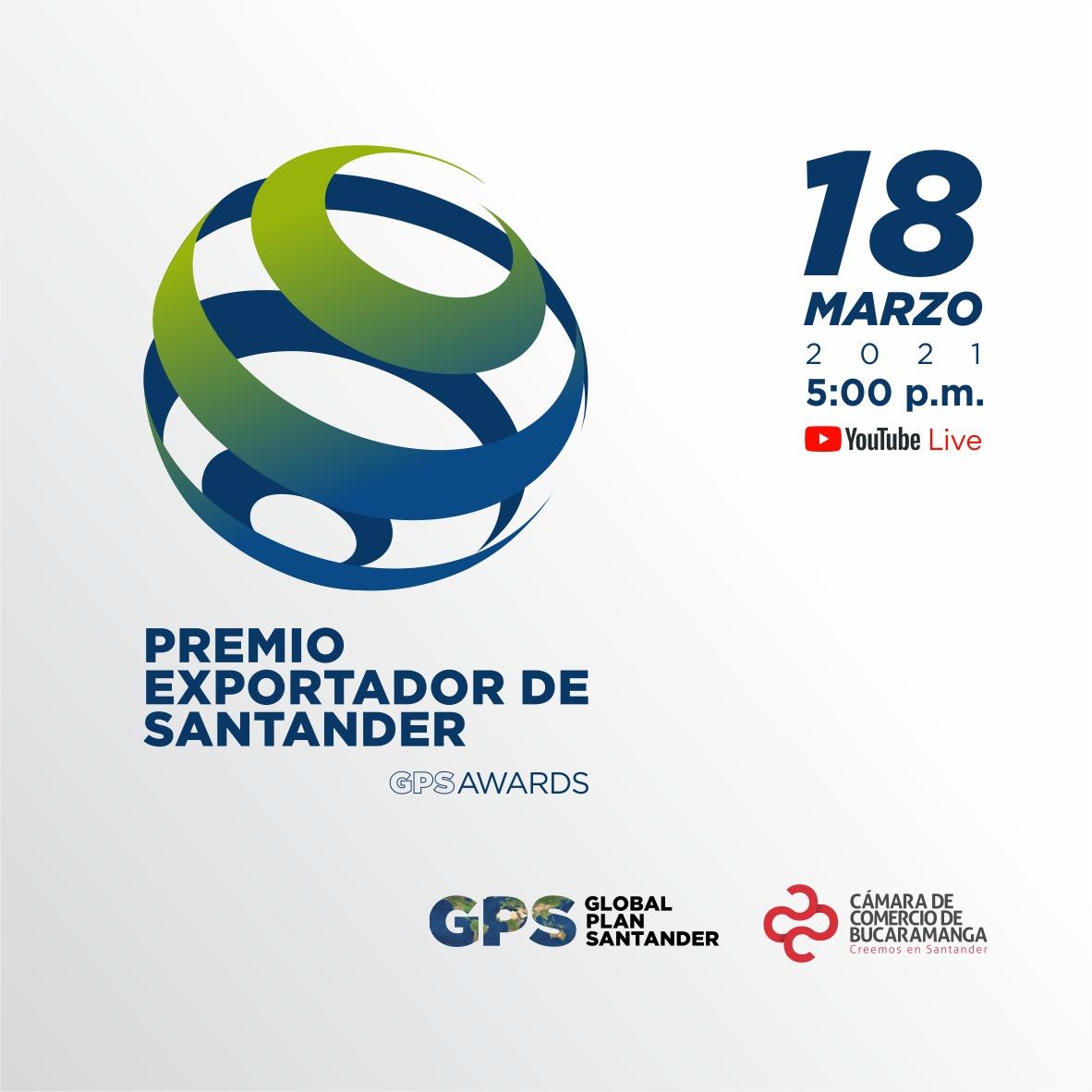 La Cámara de Comercio de Bucaramanga exaltará a los exportadores santandereanos en los GPS Awards
