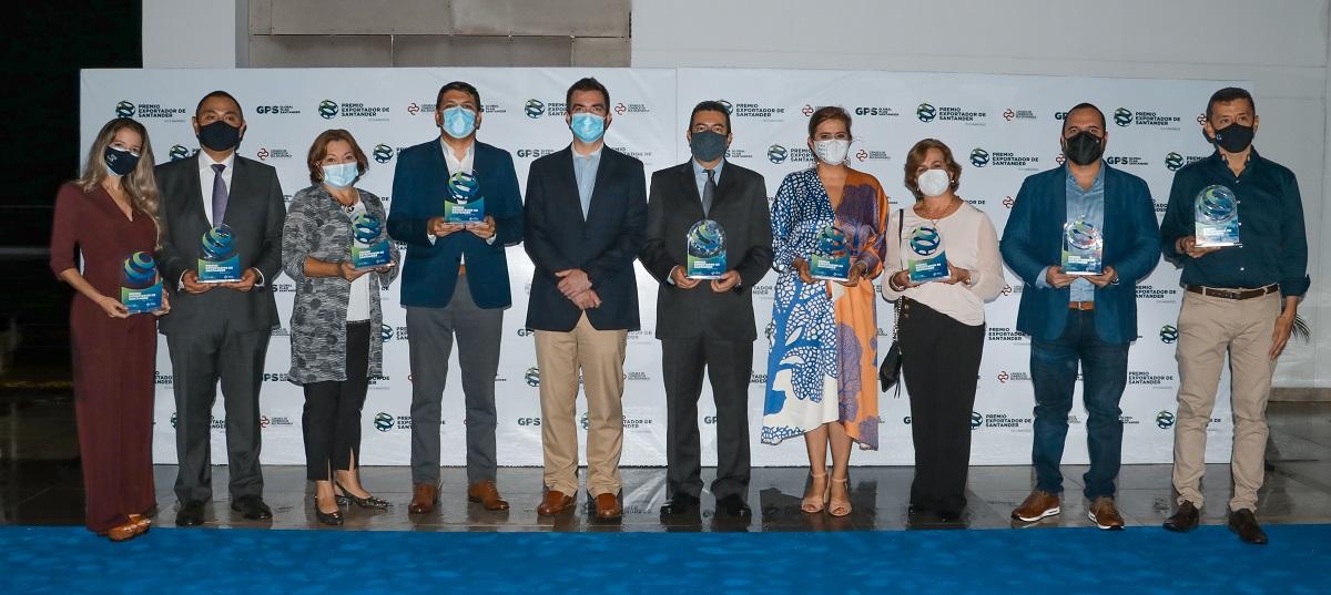 La Cámara de Comercio de Bucaramanga galardonó empresas exportadoras de la región en los GPS Awards