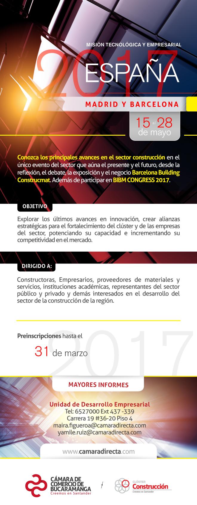 Mision Técnica - Empresarial  Sector Construcción - ESPAÑA 2017